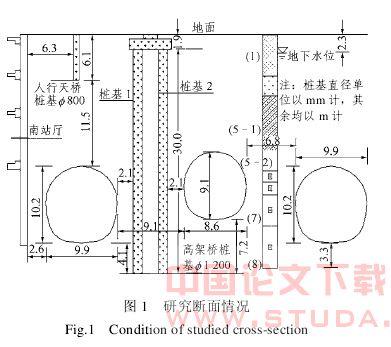 地铁车站暗挖隧道施工对既有桩基的影响_李强,王明年